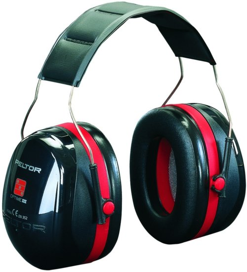 3M Peltor Optime III Ear Defenders Over Head Black & Red - SNR35