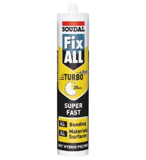 Soudal Fix All Turbo 290ml White ultra fast grab adhesive - Box 12