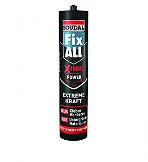 Soudal Fix All Xtreme Power polymer adhesive 290ml White - Box 12