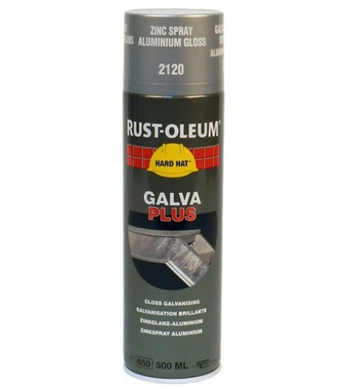 Rustoleum Glava Plus 2120 500ml aerosol bright galvanising spray