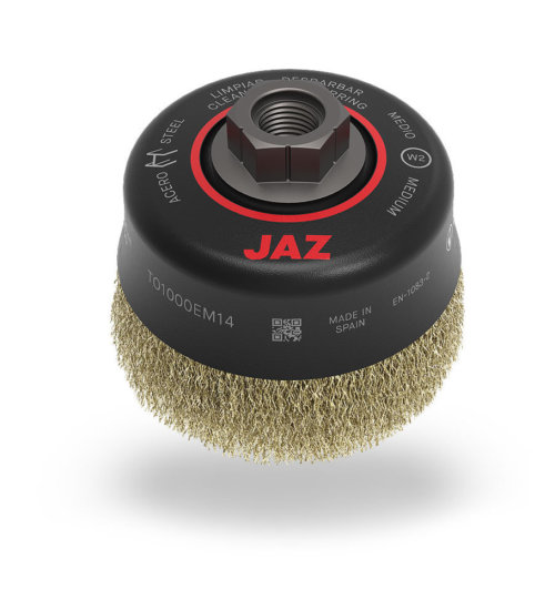 JAZ crimped wire cup brush - 75mm