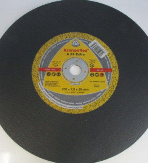Klingspor A24 Extra 300 mil (12 inch) flat cutting disc - Box of 10