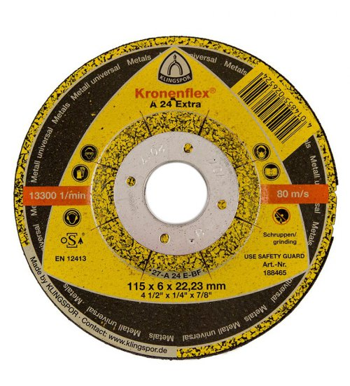 Klingspor A24 Extra grinding disc 115 x 6mm