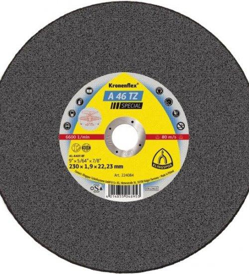 Klingspor A46TZ 230 x 1.9 flat cutting disc