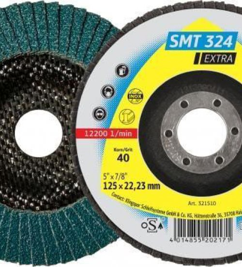 Klingspor SMT324 Extra flap disc abrasive mop wheel 115mm - Box 100