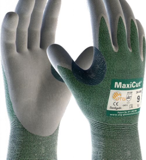 ATG MaxiCut gloves 3 cut resistance rating nitrile palm coating - BOX 72 PAIRS