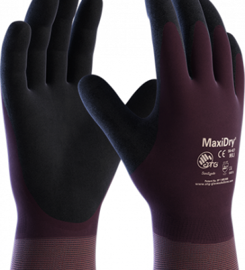 BOX of 72 - MaxiDry fully dipped water & oil resistant working glove