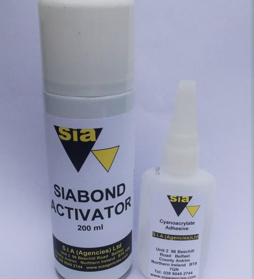 SIA Mitre bonding kit adhesive and activator