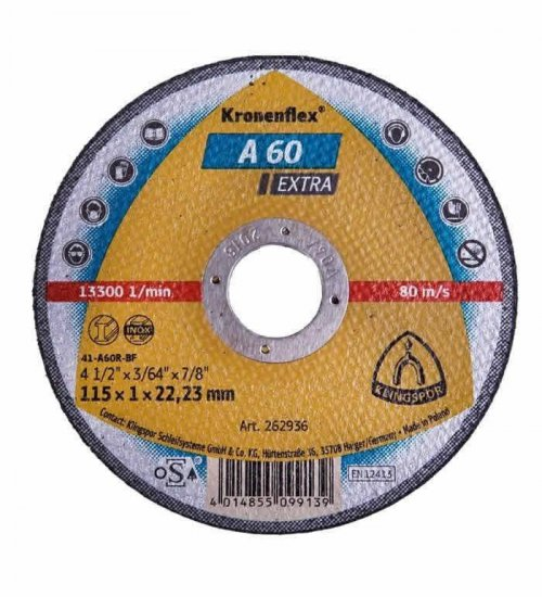 Klingspor A60 Extra one mil cutting disc 115 x 1mm cut off wheel