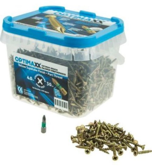 Optimaxx High performance C/sunk wood screw - Maxx Tubs (contents vary with screw size)