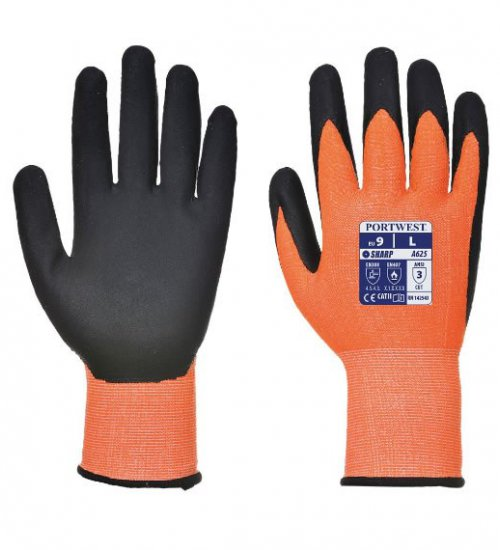Portwest A625 Vis-Tex cut rated 5 Hi-Vis working glove