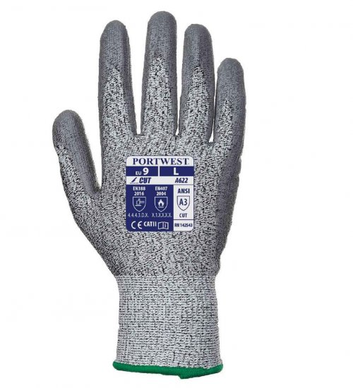 Portwest level 5 cut rated PU palm glove
