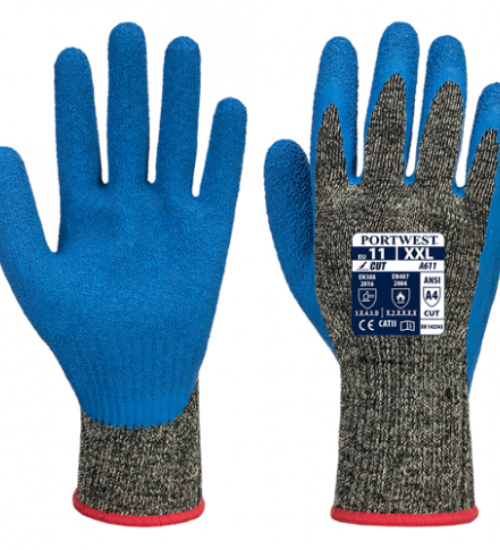 Portwest A611 Aramid HR latex cut rated gloves