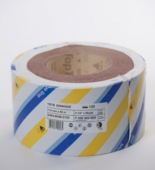 SIA 1919 Siawood Blue Line sandpaper roll 115mm x 50 metres