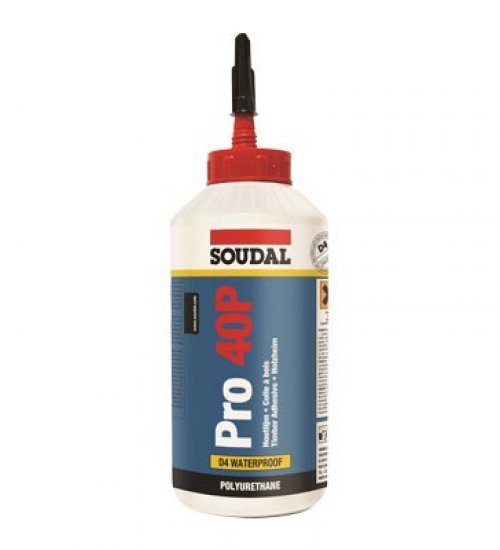 Soudal PRO 40P Polyurethane wood glue, 15 minute 750ml