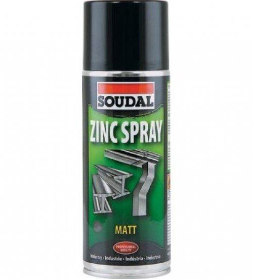 Soudal Zinc spray matt finish galvanising spray