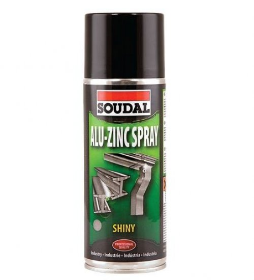 Soudal zinc spray shiny finish galvanising spray