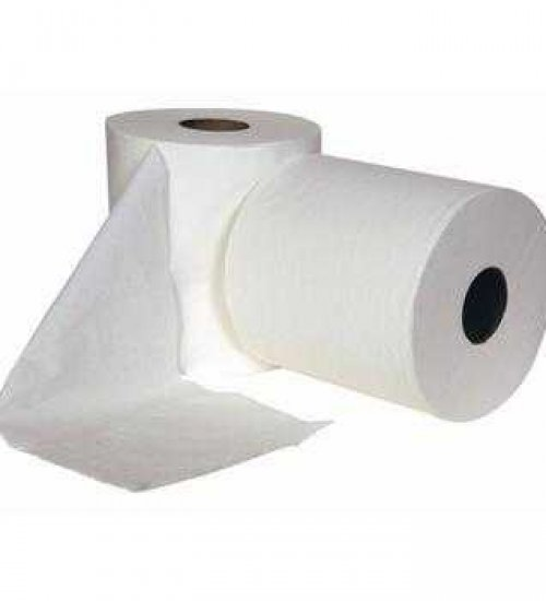 260mm x 400m 2 pack HEAVY DUTY white paper roll - 100% recycled