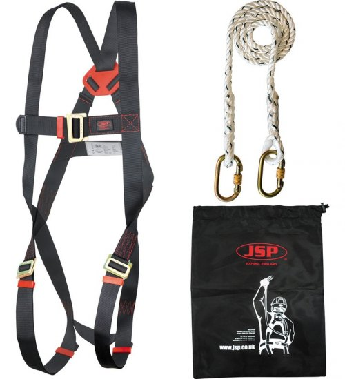 JSP - Spartan Restraint Kit: 1-Point Spartan Harness &  1.8m Fixed Length Lanyard