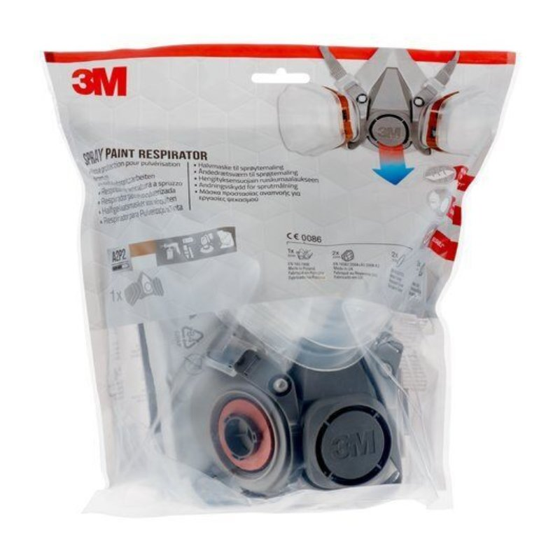 3M Spray Paint Respirator 6002, A2P2, 1 Kit respirator with filters - Half mask