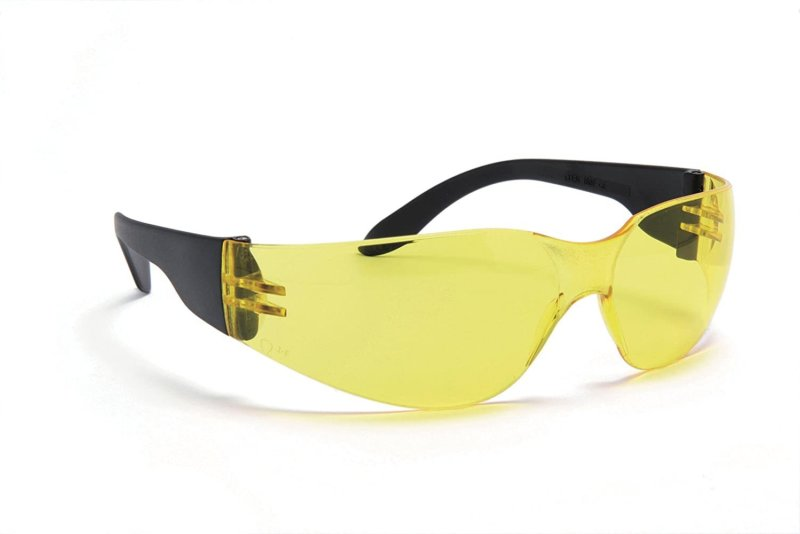 Blackrock basic yellow safety glasses box 12
