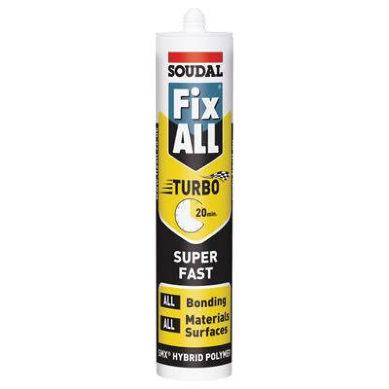 Soudal Fix All Turbo 290ml White ultra fast grab adhesive