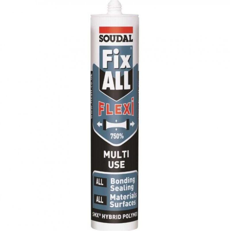 Soudal Fix all flexi, multi use sealant, adhesive and filler 290ml cartridge