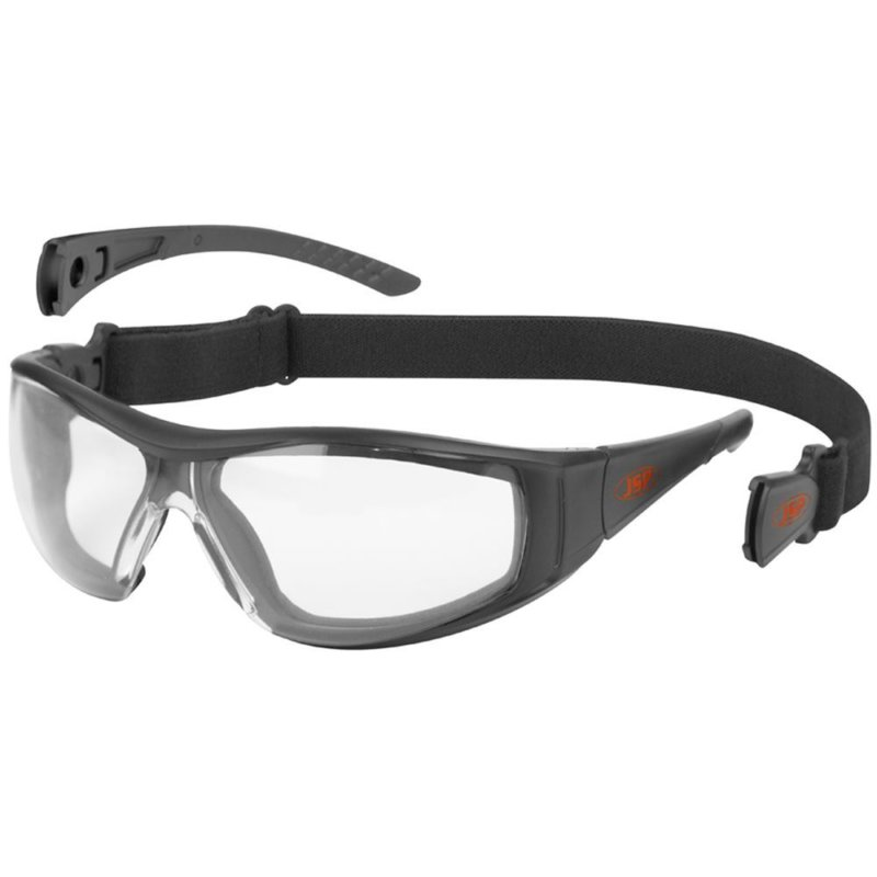 JSP Stealth Hybrid Clear Safety Glasses Google - Anti-Scatch & Anti-Mist