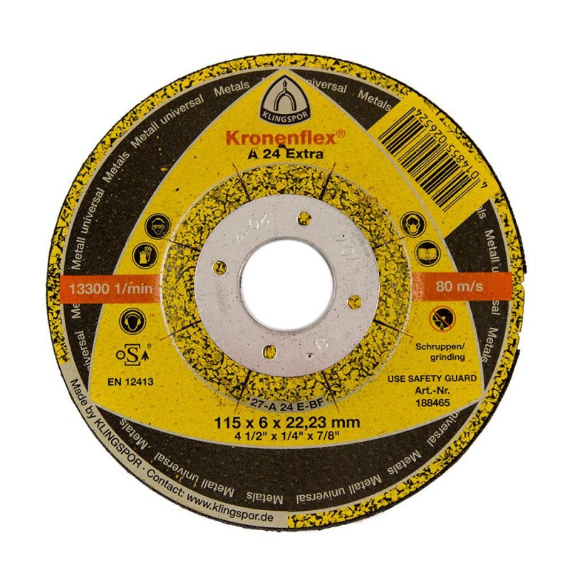 Klingspor A24 Extra grinding disc 115 x 6mm