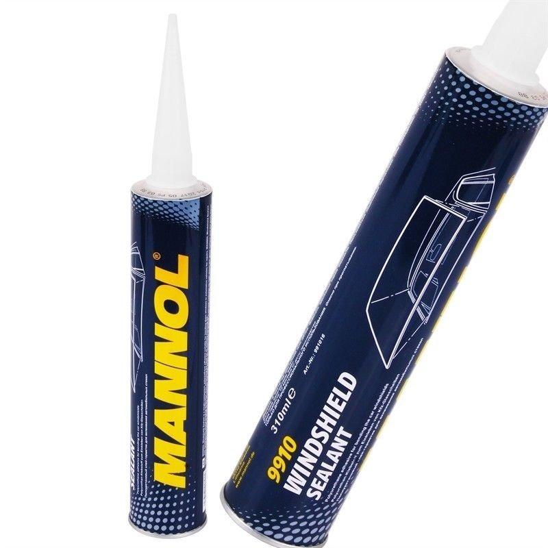 Mannol 9910 Windscreen PU bond and seal 310ml BLACK - Box of 12