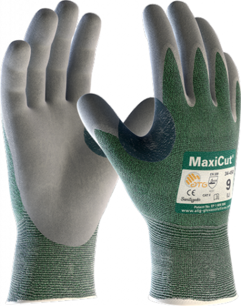ATG MaxiCut gloves 3 cut resistance rating nitrile palm coating