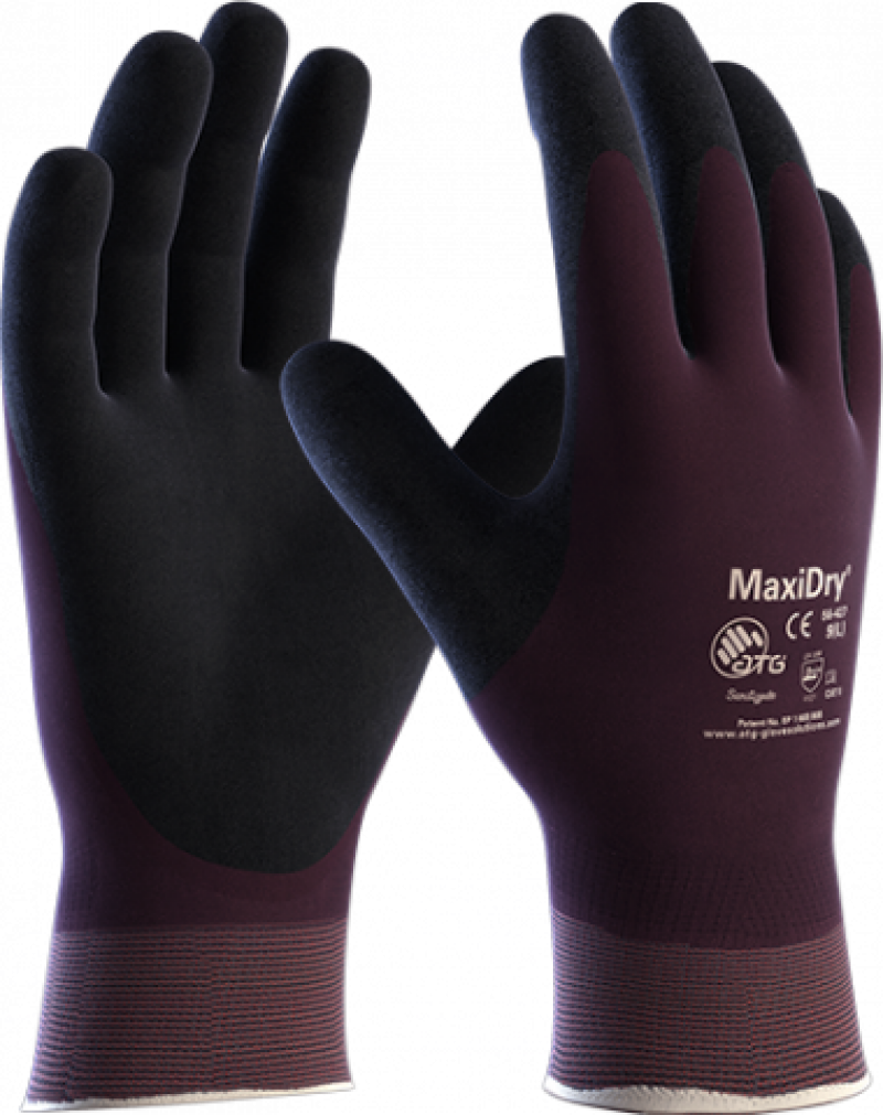 Maxidry Palm Coated oil resistant Handling Gloves (6 packs of 12 – 72 pairs)