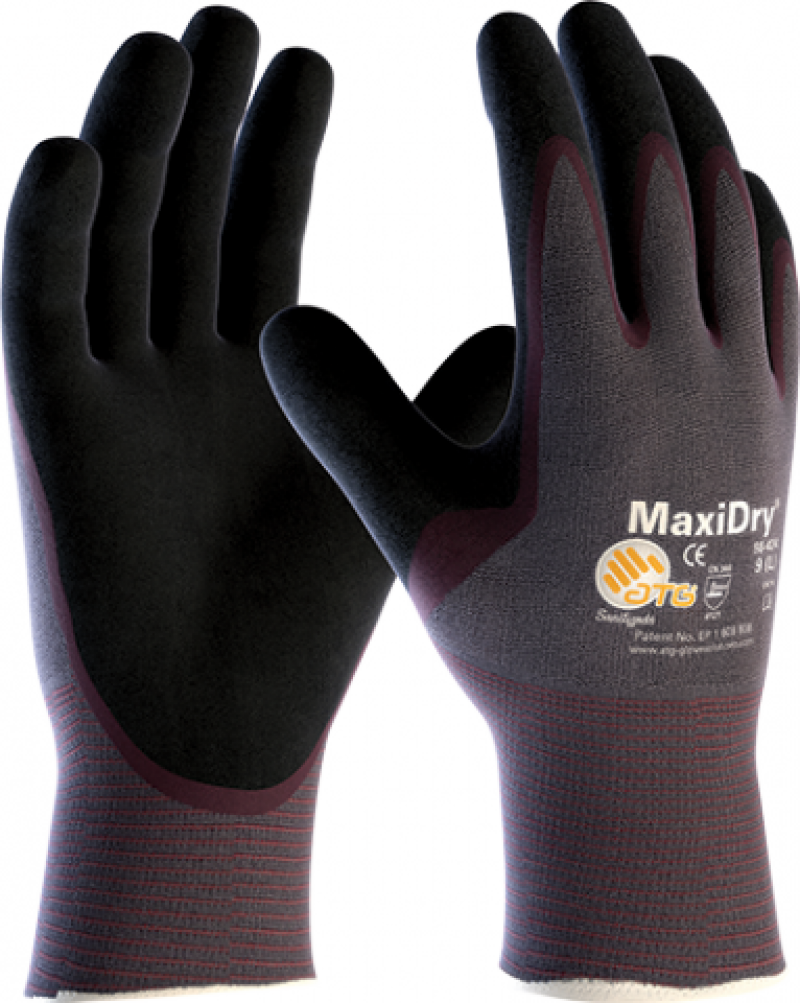 MaxiDry 3/4 dipped oil & water resistant working glove