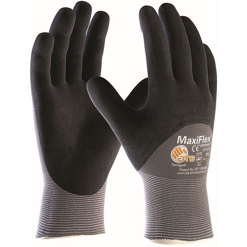Maxiflex Ultimate 3/4 coated handling gloves 42-875