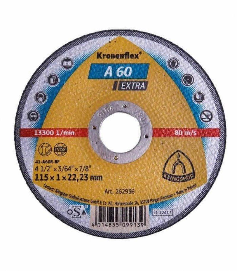 Klingspor A60 Extra one mil cutting disc 115 x 1mm cut off wheel