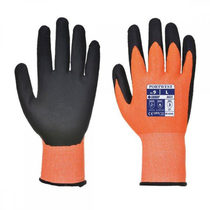Portwest A625 Vis-Tex cut rated 5 Hi-Vis working glove