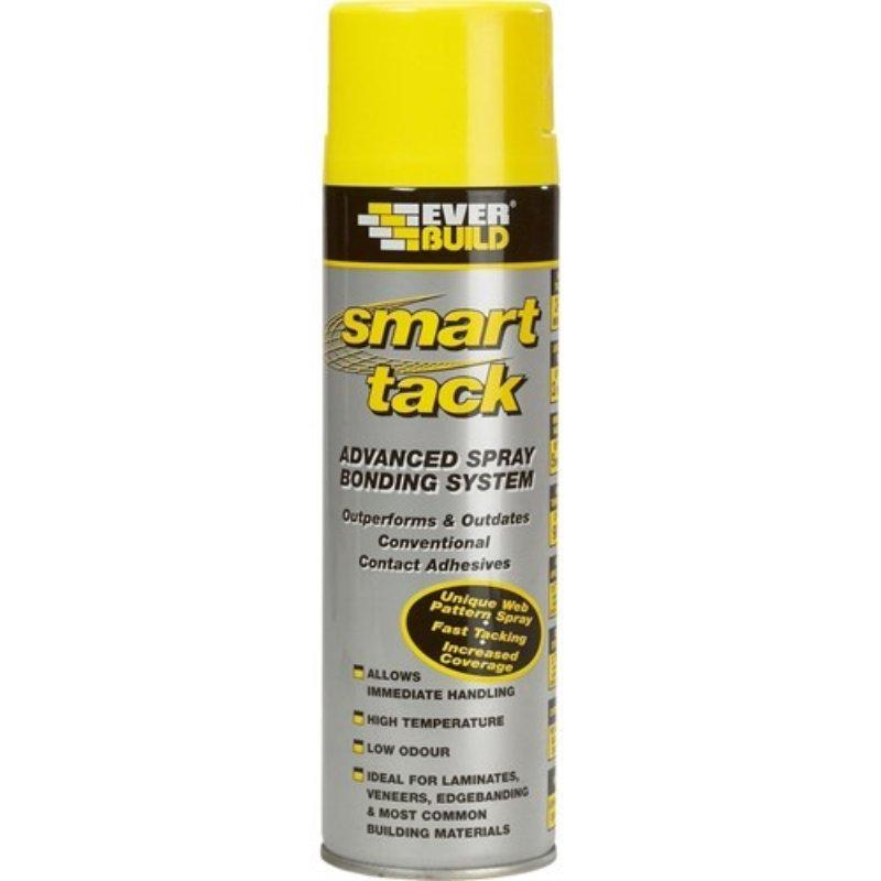 Everbuild Smart Tack Handy - high strength rapid grab aerosol spray adhesive 500ml Blue