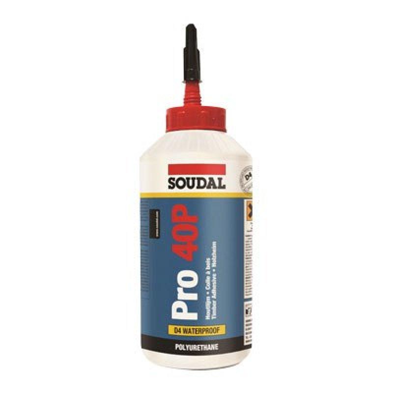 Soudal PRO 40P Polyurethane wood glue, 15 minute 750ml