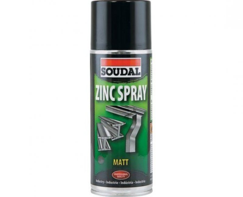 Soudal Zinc spray matt finish galvanising spray