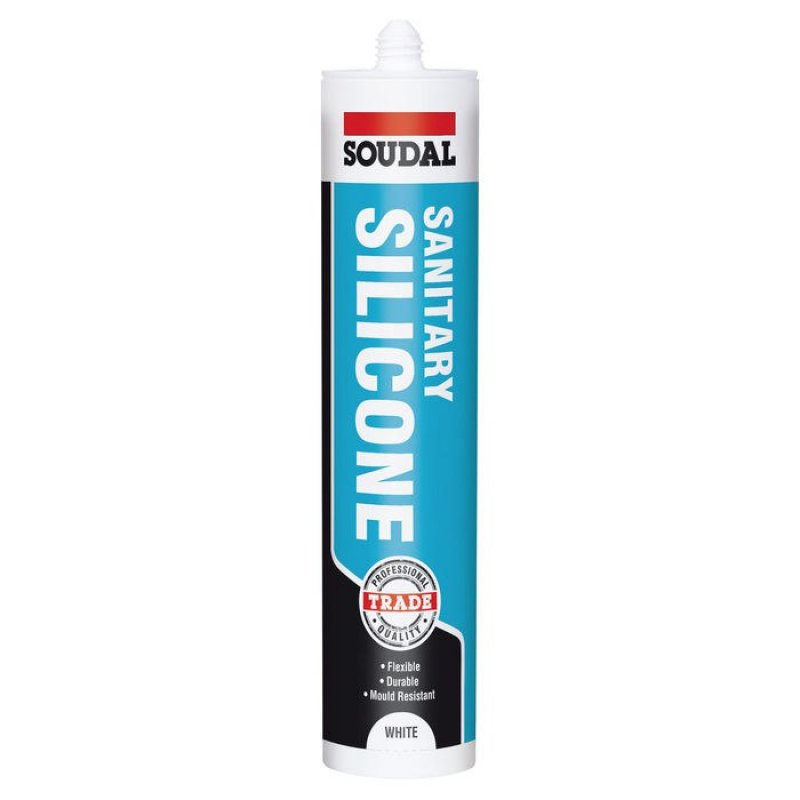 Sanitary silicone for trade Soudal 300ml
