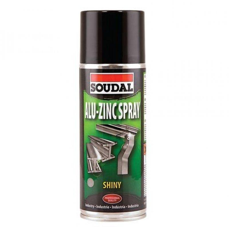 Soudal zinc spray shiny finish galvanising spray