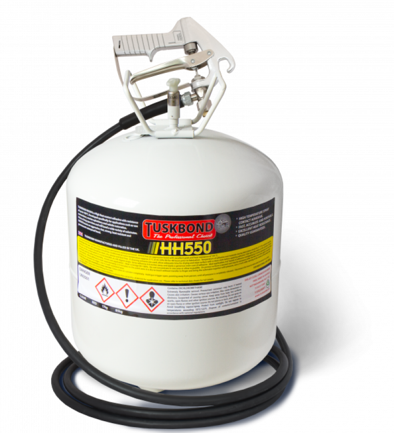 Tuskbond HH550 High heat resistant multipurpose spray adhesive - 17kg canister