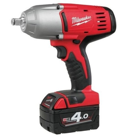 "MILWAUKEE HD18HIWF-402C IMPACT WRENCH 2-18V-4AH REDLITHIUM BATTERIES 1/2"" SQ DRIVE"