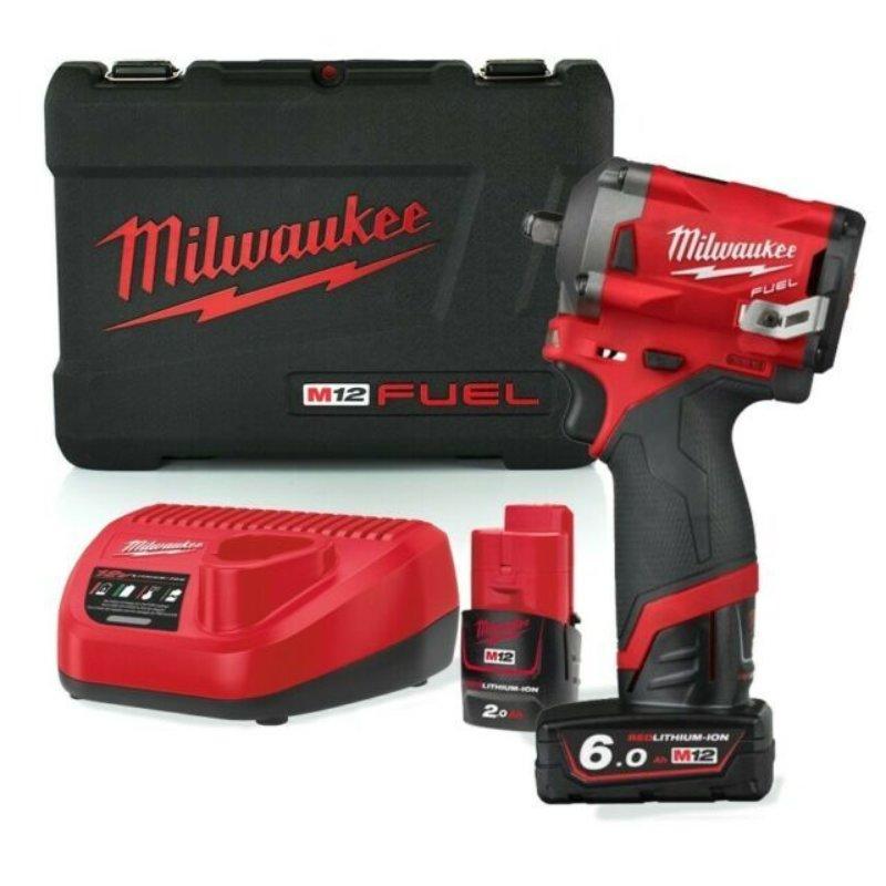 "Milwaukee M12FIW38-622X 12v 1 x 6.0/2.0Ah Li-ion 3/8"" Impact Wrench"