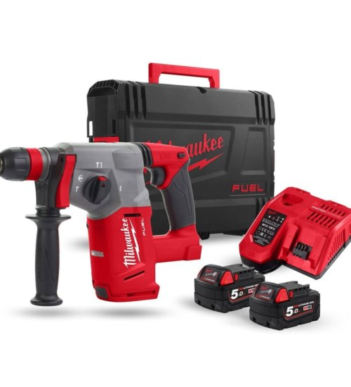 Milwaukee M18CHX-502X M18 fuel SDS Plus Hammer Drill (2 x 5.0Ah Batteries)
