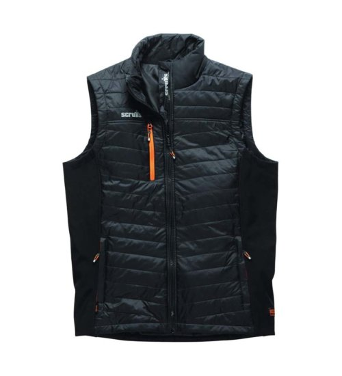Scruffs trade bodywarmer - hard wearing black work Gillet