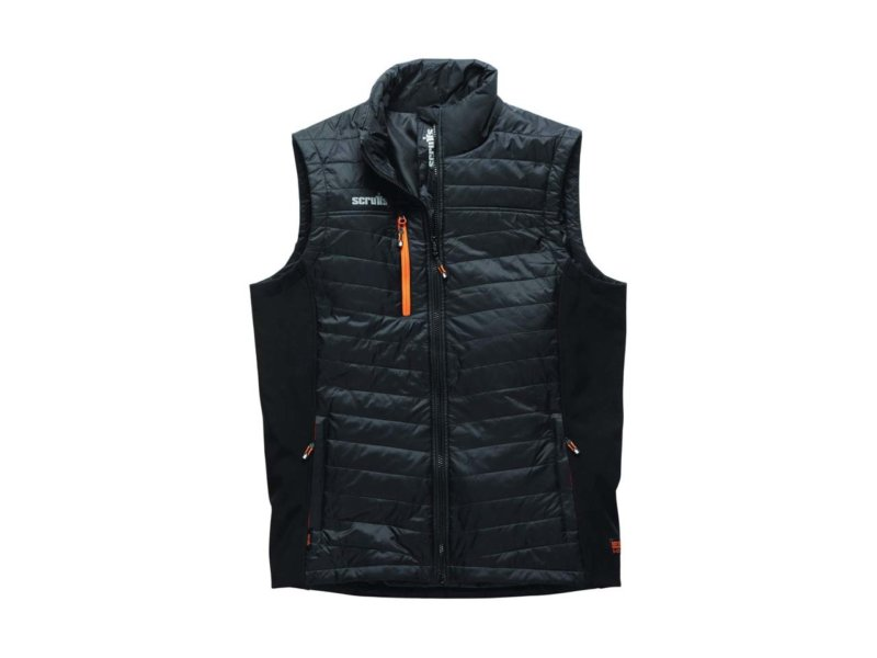 Scruffs trade bodywarmer - hard wearing black work Gillet