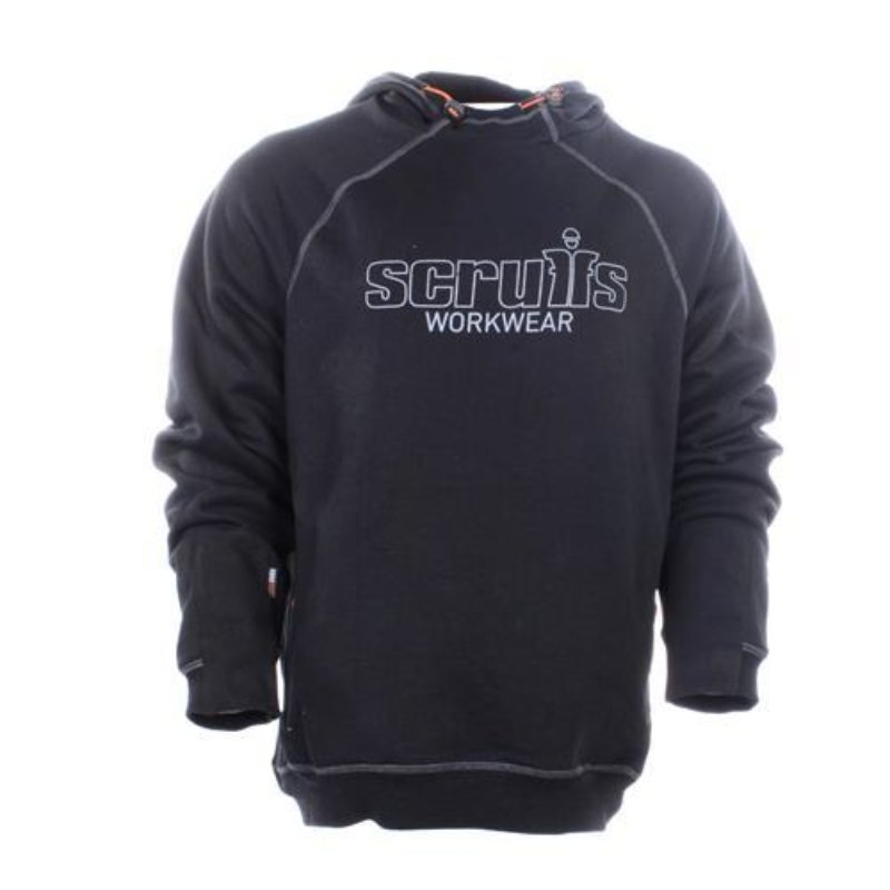 Scruffs trade work hoodie - black men's high quality hooded jumper