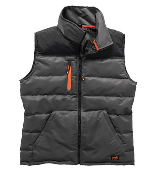 Scruffs worker bodywarmer - Black/charcoal fleece lined technical jacket - Gillet