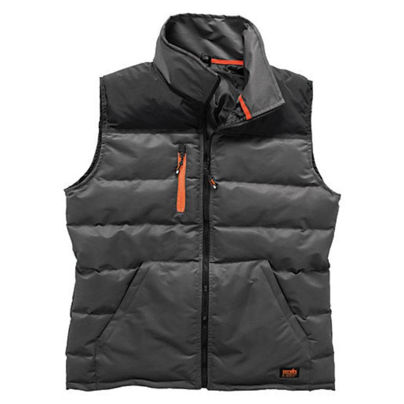 Scruffs worker bodywarmer - Black/charcoal fleece lined technical jacket - Gillet